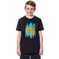 Horsefeathers RAGGED black dětské tričko s krátkým rukávem - S