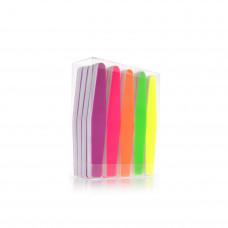 Labor sada fluorescentních pilníků na nehty, mix barev a zrnitostí 20ks