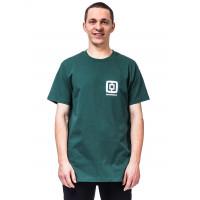 Horsefeathers MINI LOGO smoke pine pánské tričko s krátkým rukávem - S