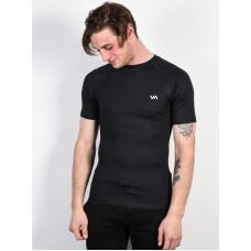 RVCA VA SPORT COMP black pánské tričko s krátkým rukávem - L