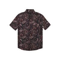 RVCA BAMBOO FLORAL NAVY MARINE pánská košile krátký rukáv - XL