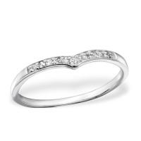 OLIVIE - stříbrný prsten 0218 Velikost prstenů: 6 (EU: 51 - 53)