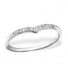 OLIVIE - stříbrný prsten 0218 Velikost prstenů: 8 (EU: 57 - 58)