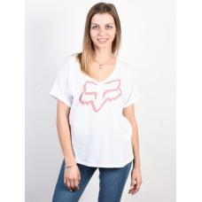 Fox Responded Short Slee white dámské tričko s krátkým rukávem - L