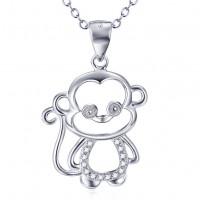 OLIVIE Stříbrný náhrdelník OPIČKA 4675