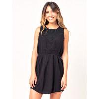 Rip Curl SWEET PARADISE black společenské šaty krátké - S