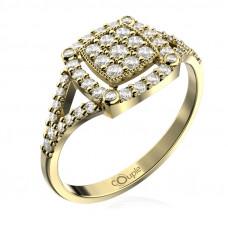 Zlato Zlatý dámský prsten Kostka 6610309 Velikost prstenu: 54