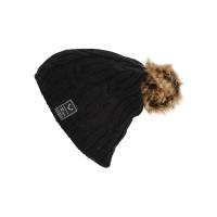 ROJO CABLE RIB TRUE BLACK dámská zimní čepice