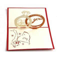 3D přání Snubní prsteny