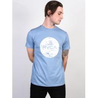 RVCA MOTORS DEJA BLUE pánské tričko s krátkým rukávem - S