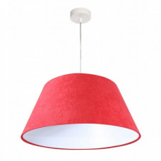 Závěsné svítidlo Velký zvon, červený + bílý vnitřek