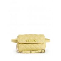GUESS kabelka Elliana Quilted Convertible Crossbody Belt Bag žlutá vel.