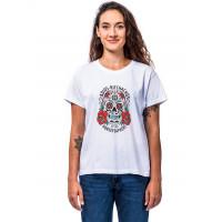 Horsefeathers MEXICANA white dámské tričko s krátkým rukávem - S