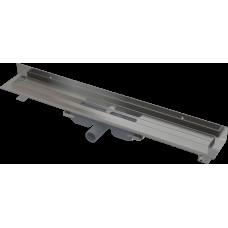Alcaplast APZ116-1150 LOW Podlahový žlab s okrajem pro plný rošt, pevný límec ke stěně kout min. 1200mm (APZ116-1150)