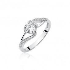 OLIVIE Stříbrný prsten se zirkony 1950 Velikost prstenů: 7 (EU: 54 - 56)