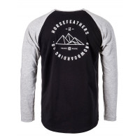 Horsefeathers PEAKS black pánské tričko s krátkým rukávem - M