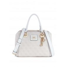 GUESS kabelka Candace Mini Logo Satchel stone vel.