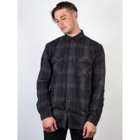 Burton BRIGHTON TECH FL TRUE BLACK BOXELDER pánská košile dlouhý rukáv - M