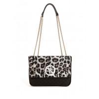 GUESS kabelka Ryann Convertible Logo Crossbody leopard černá vel.