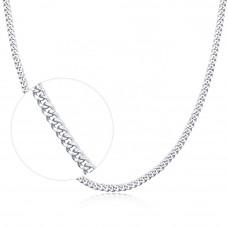 OLIVIE Stříbrný 45+5cm řetízek rhodiovaný 4603