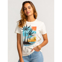Billabong ISLA PALMA COOL WIP dámské tričko s krátkým rukávem - S
