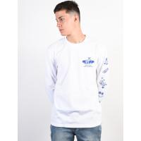 Element WHEELIN OPTIC WHITE pánské tričko s dlouhým rukávem - S