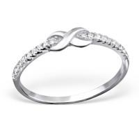 OLIVIE Stříbrný prsten NEKONEČNO 1026 Velikost prstenů: 7 (EU: 54 - 56)