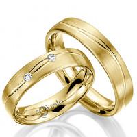 Zlato Snubní prsten Couple Protaras ze žlutého zlata