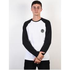 Rip Curl ORIGINAL black/white pánské tričko s dlouhým rukávem - S