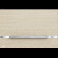 ALCAPLAST STRIPE nerez-dekor oak white, ovládací deska tlačítko, pro předstěnové systémy OAK WHITE (STRIPE-OAK WHITE)