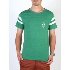 Krooked TEAM K GRN/WHT pánské tričko s krátkým rukávem - L