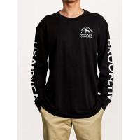 RVCA WICKS black pánské tričko s dlouhým rukávem - L