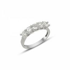 OLIVIE Stříbrný prsten s 5 krystalky 1262 Velikost prstenů: 6 (EU: 51 - 53)