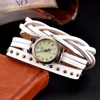 Dámské retro kožené hodinky - 4 barvy Barva: Bílá