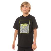 Vans PRINT BOX BLACK/WARP CHECK dětské tričko s krátkým rukávem - M