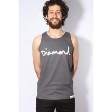 Diamond Supply Co OG SCRIPT TANK TOP CHARCOAL pánské bavlněné tílko - M