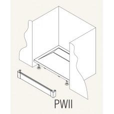 SanSwiss PWII 080 04 Přední panel hliníkový pro čtvercovou vaničku 80 cm - bílý