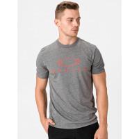 Oakley BARK ATHLETIC HEATHER GREY pánské tričko s krátkým rukávem - XXL
