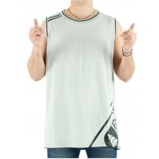 Picture Jordan GREY MELANGE pánské bavlněné tílko - XL
