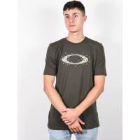 Oakley ELLIPSE DOTS NEW DARK BRUSH pánské tričko s krátkým rukávem - XL