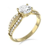 Couple Zlatý dámský prsten Gemima 6610280 Velikost prstenu: 54