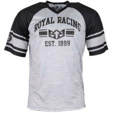 Royal GRADUATE JERSEY BLACK/GRAPHITE/WHITE triko na kolo - S