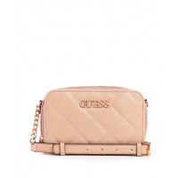 GUESS kabelka Wilona Quilted Logo Crossbody Camera Bag rose vel.