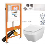 JOMO - SET JOMO Duofix modul pro závěsné WC + tlačítko + montážní sada + sedátko + WC CERSANIT CLEANON CREA ČTVEREC (174-91100900-00 CR2)
