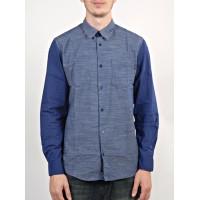 WESC Elmont blue depths pánská košile dlouhý rukáv - S