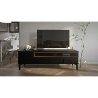 TV stolek Roomers 92179 černá/ořech - TVI