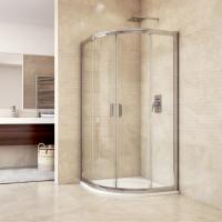 MEREO - Sprchový set: sprchový kout 90x90x190 cm, R550, chrom ALU, sklo Čiré, litá vanička (CK608B23HM)
