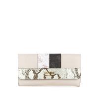 GUESS peněženka Katey Python Printed Clutch Wallet stone vel.