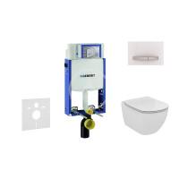 Geberit Sada pro závěsné WC + klozet a sedátko softclose Ideal Standard Tesi - sada s tlačítkem Sigma50, výplň bílá 110.302.00.5 NE8