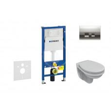 Geberit Sada pro závěsné WC + klozet a sedátko Ideal Standard Quarzo - sada s tlačítkem Delta50, chrom 458.103.00.1 NR5